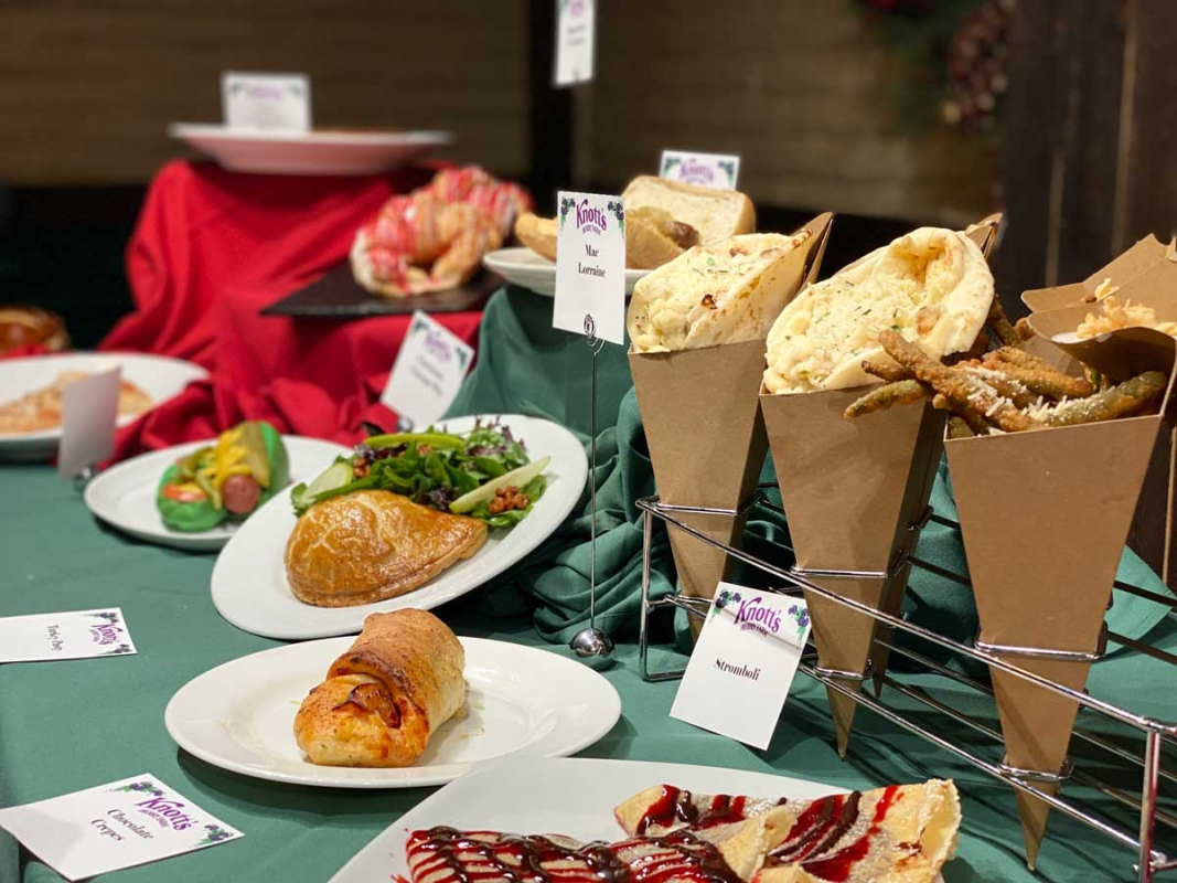 Food offerings at Knott's Merry Farm