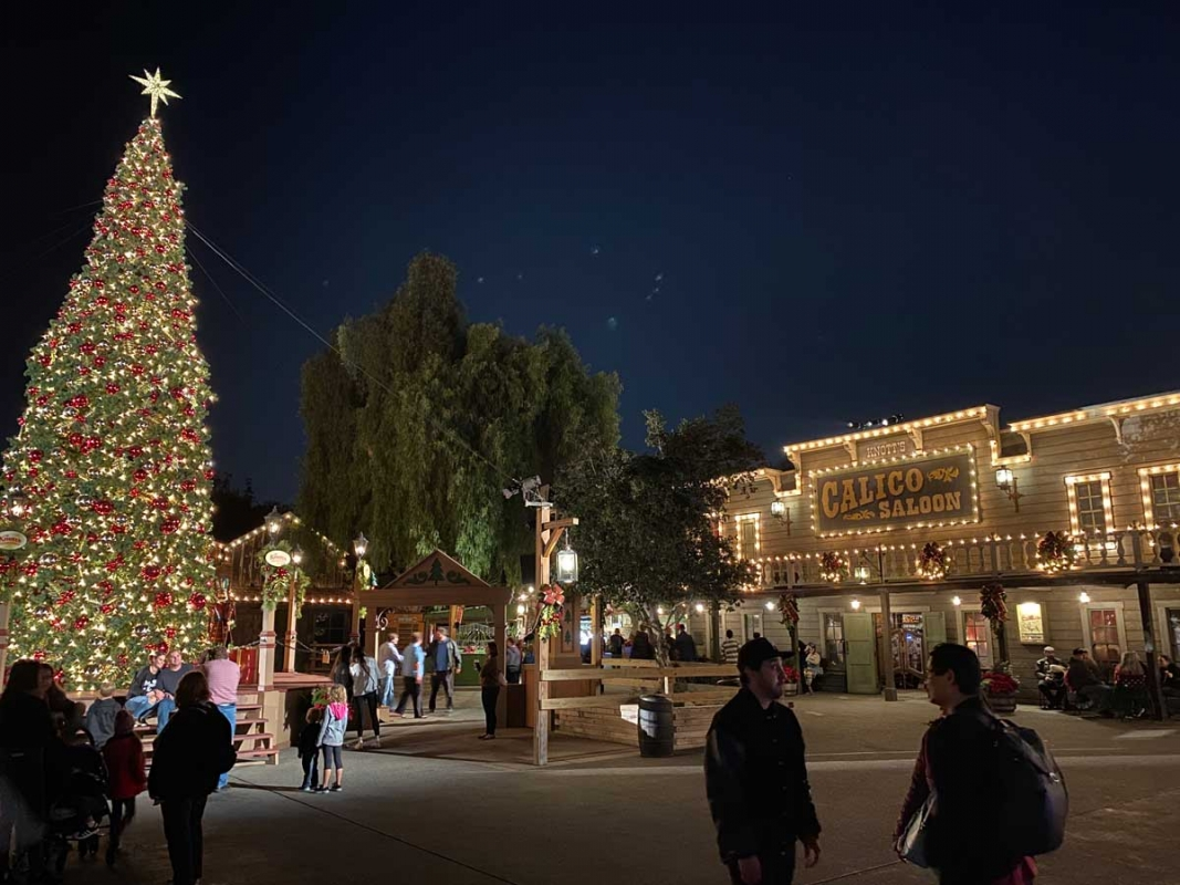Ghost Town decorated for the Holidays