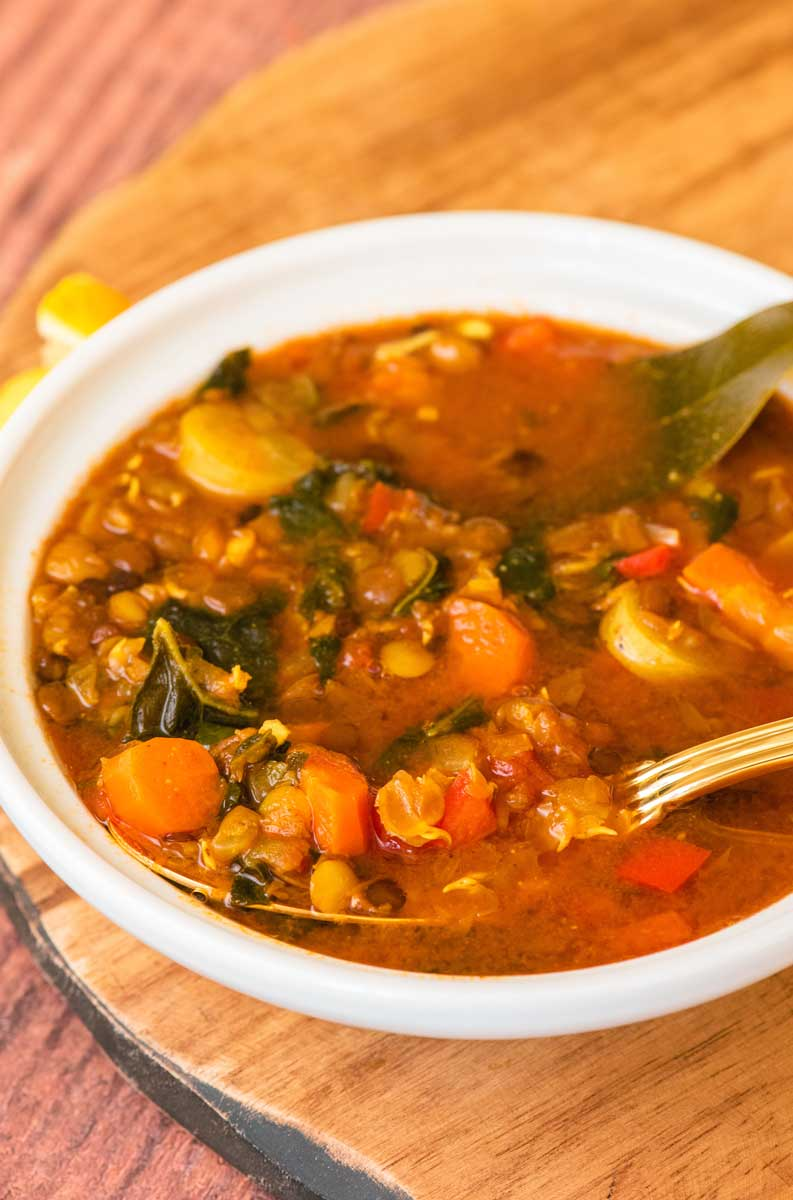 Flavorful & Healthy Vegan Moroccan Lentil Soup Recipe for the Instant Pot