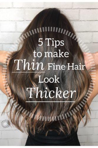 thin fine hair thicker