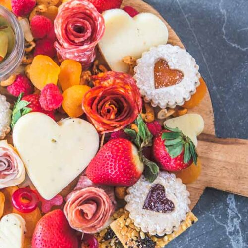 How to Make a Valentines Day Charcuterie Board with Adorable Salami Roses