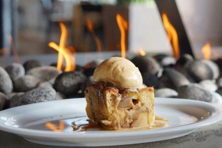 Brioche & Croissant Bread Pudding with Caramel Ice Cream