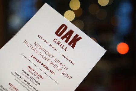 oak grill restaurant week