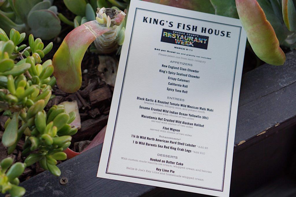kingsfish restaurantweek