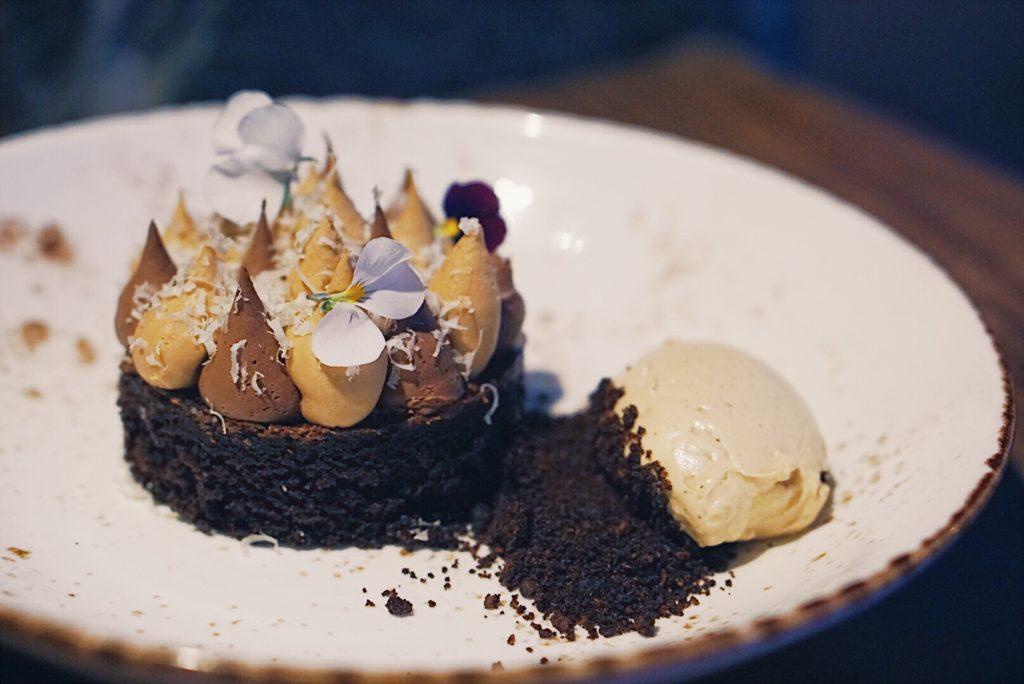 hazelnut coffee chocolate cake