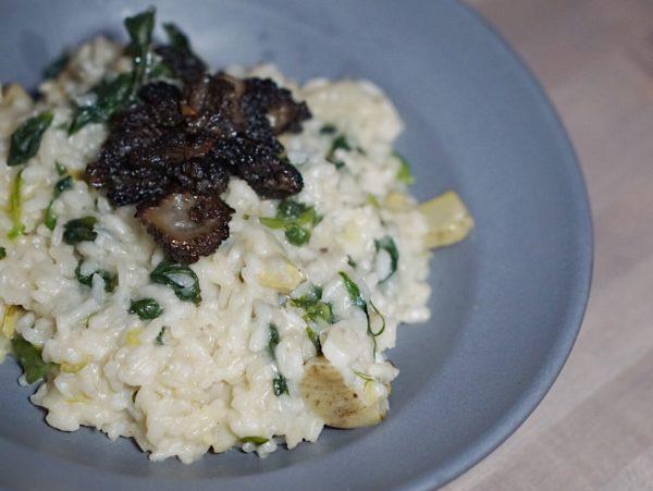 morel mushroom risotto