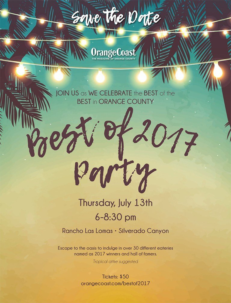 OrangeCoast Magazine's Best of 2017 Event at the Beautiful Rancho Las Lomas