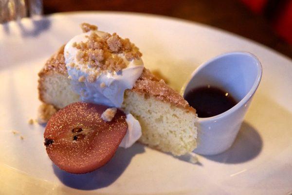 a restaurant dessert
