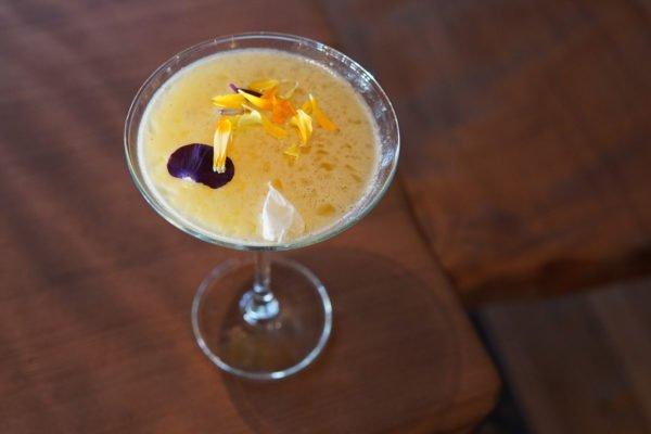 sapphire passion fruit martini