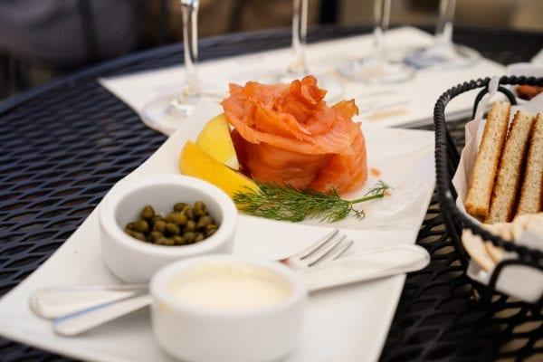 Domaine Carneros salmon plate