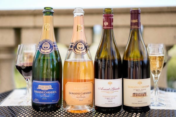 Domaine Carneros champagne and wine tasting