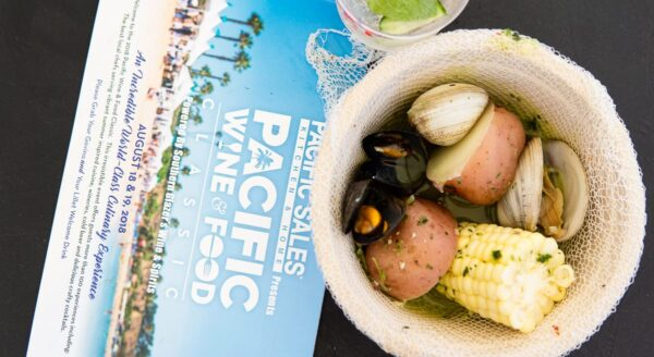 Pacific wine and food clam bake