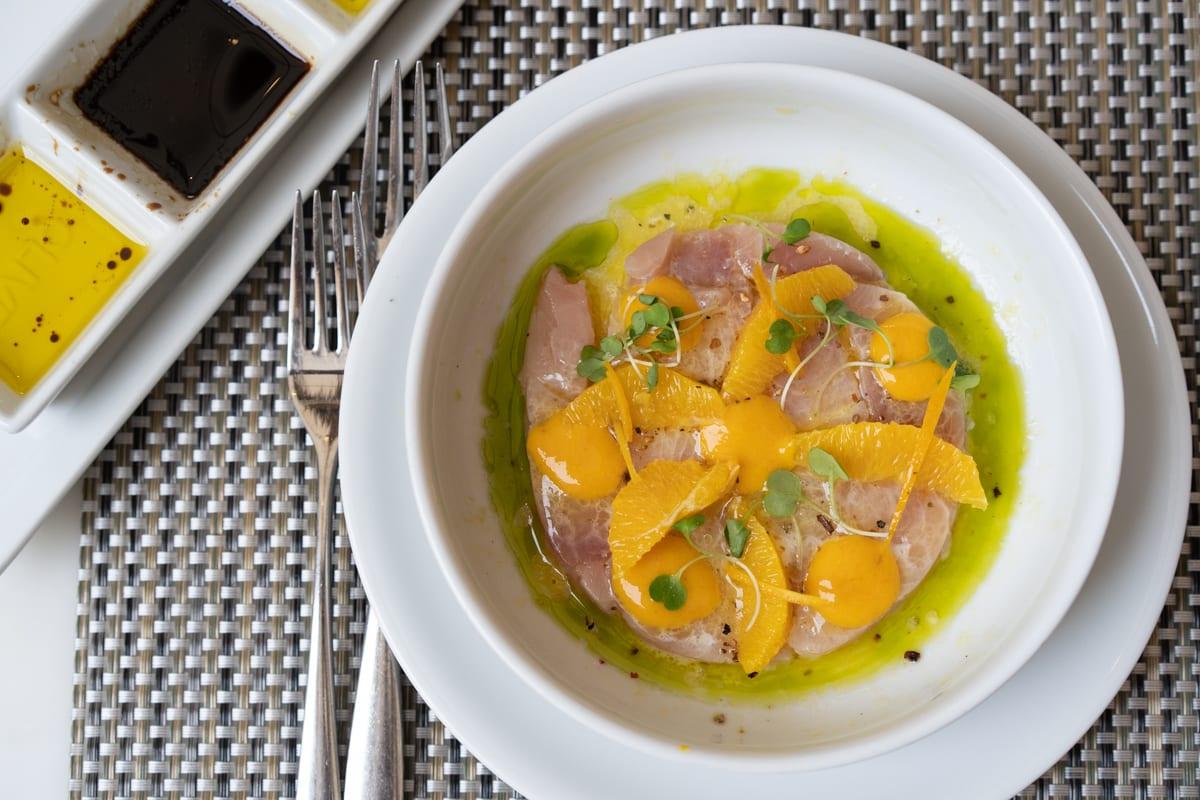 fig and olive hamachi crudo