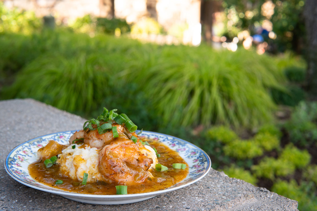 Festival of holidays shrimp and grits