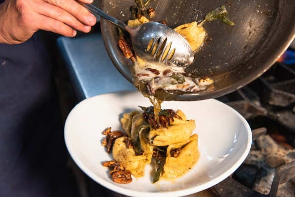 Chef Recipe Spotlight: Brown Butter Sage Sauce with Pumpkin Agnolotti 3