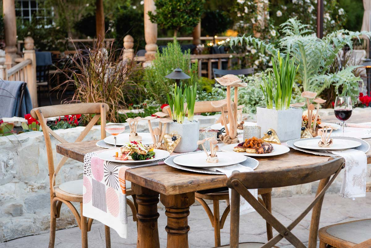 A New Fall Menu and Whimsical Tablescape with Farmhouse at Roger's Gardens