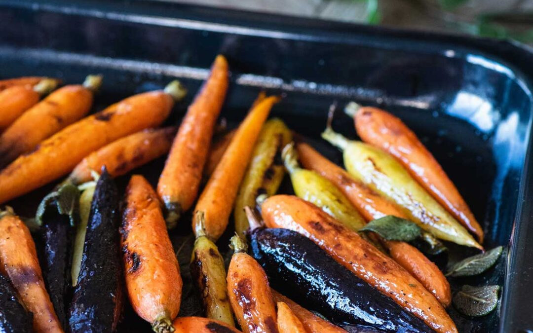Brown Butter Sage Roasted Carrots Recipe