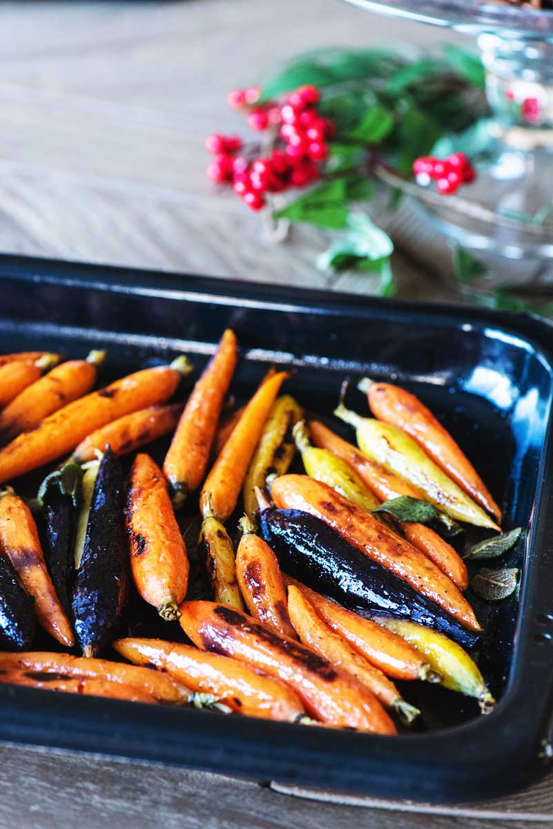 Easy Brown Butter Sage Roasted Carrots Recipe