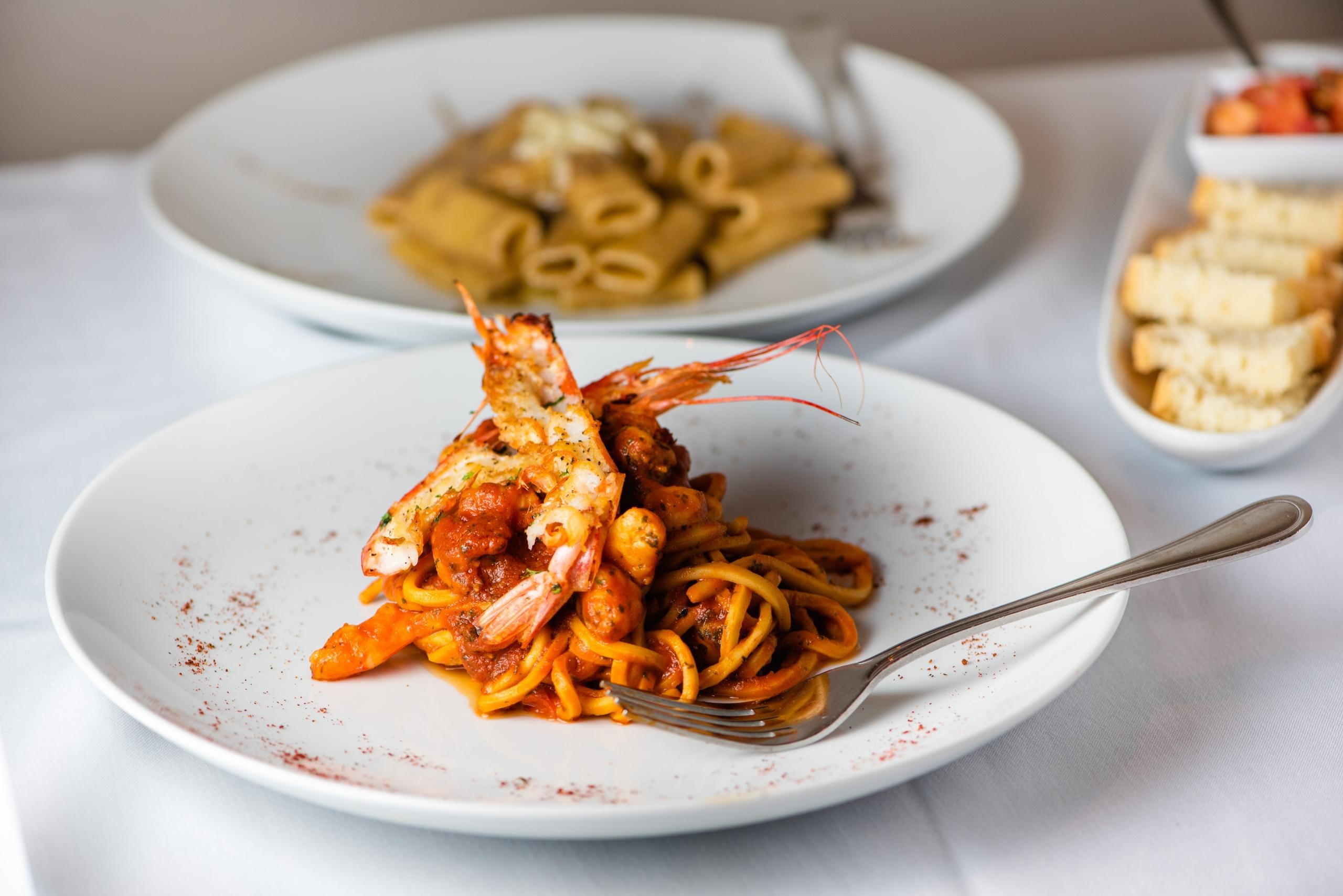 Olivers Osteria Shrimp Pasta