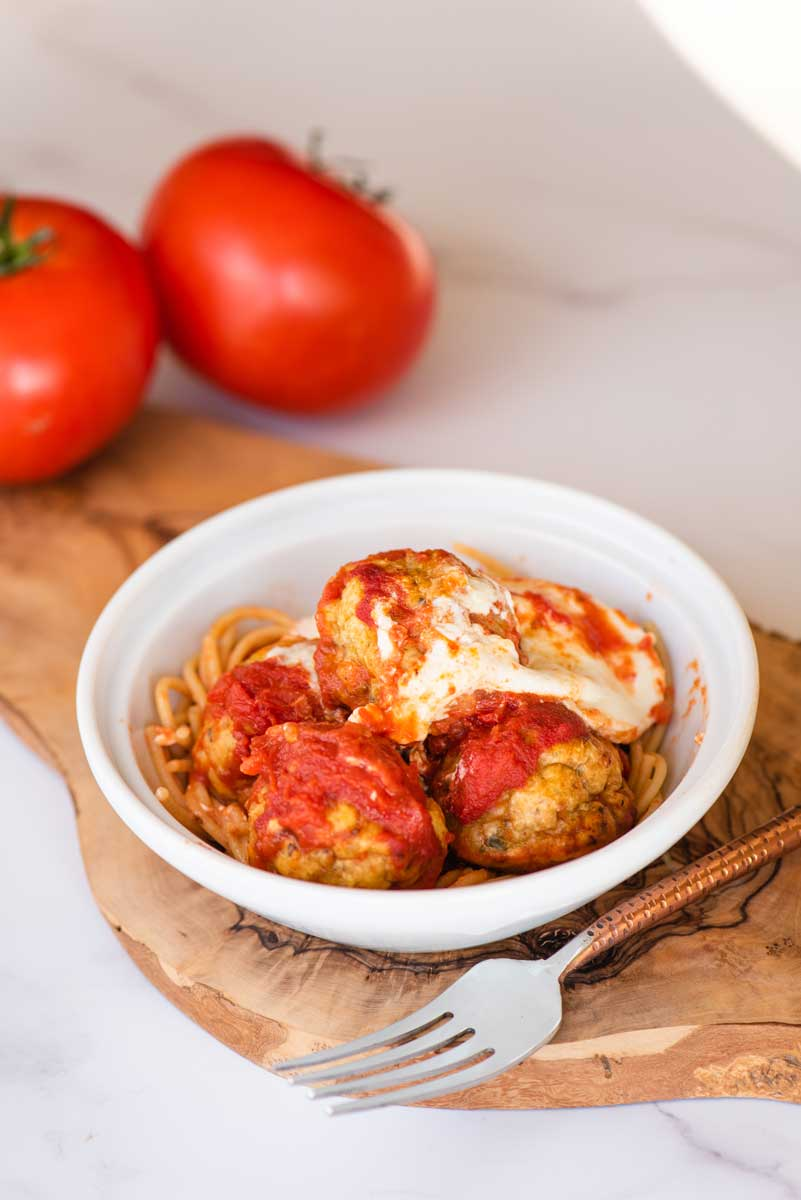 The Best Chicken Meatball Recipe with Homemade Marinara