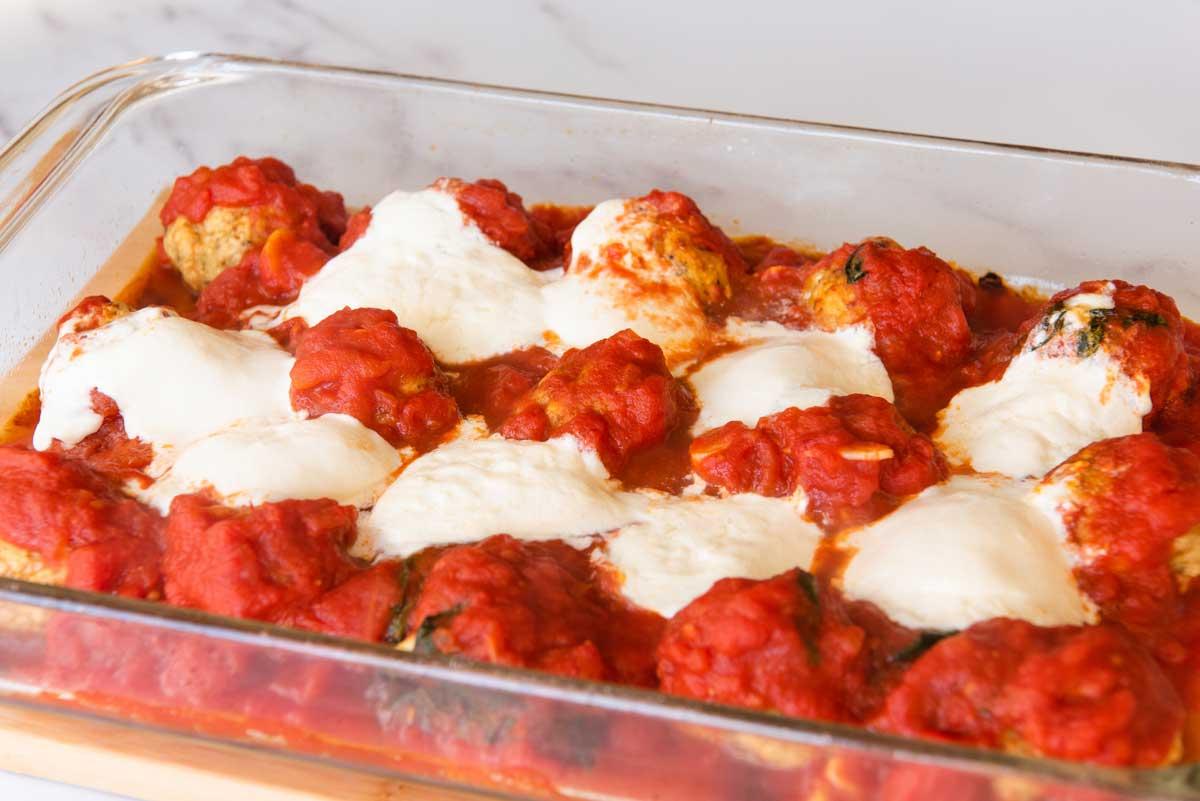 Chicken-Meatballs-with-Burrata