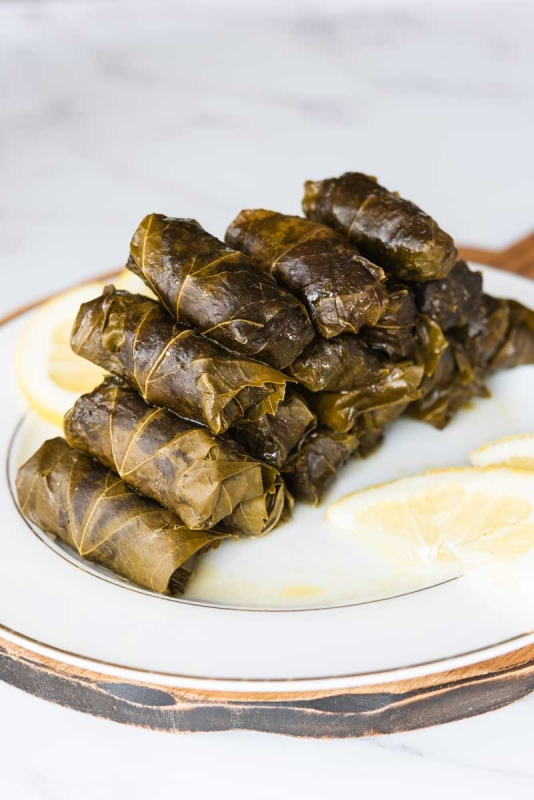The Best Lamb Stuffed Grape Leaves Recipe With Greek Lemon Sauce Cuisine And Travel