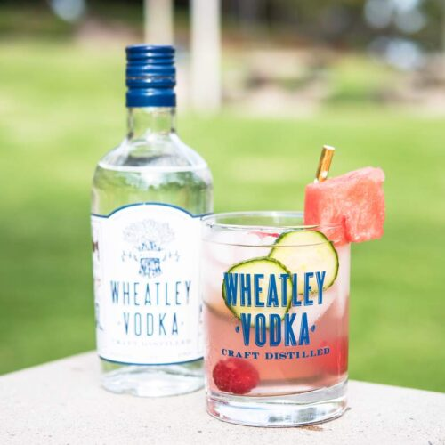 A Refreshing Watermelon Cooler Spritz Cocktail Recipe with Wheatley Vodka