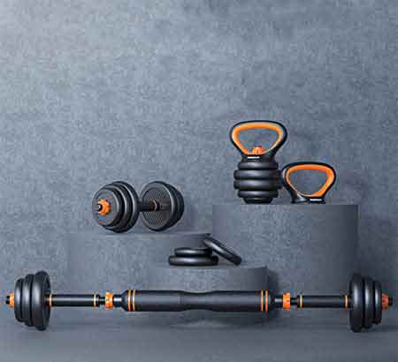 home-gym-Barbell-Dumbbell-set