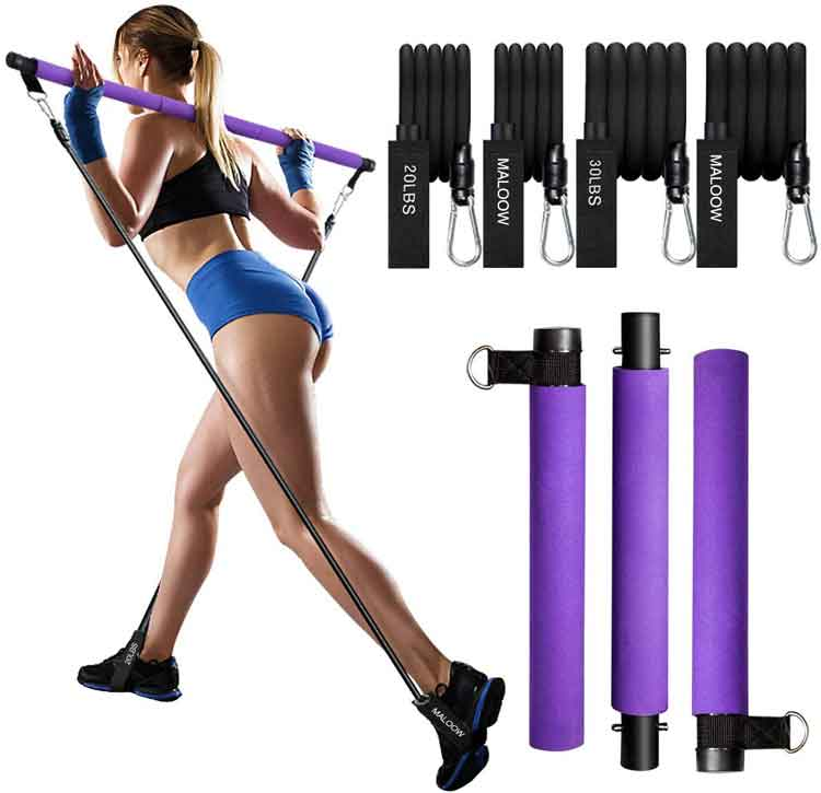 Home-Gym-Pilates-Bar-Band-Set