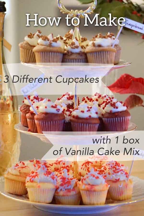 three cupcakes one box