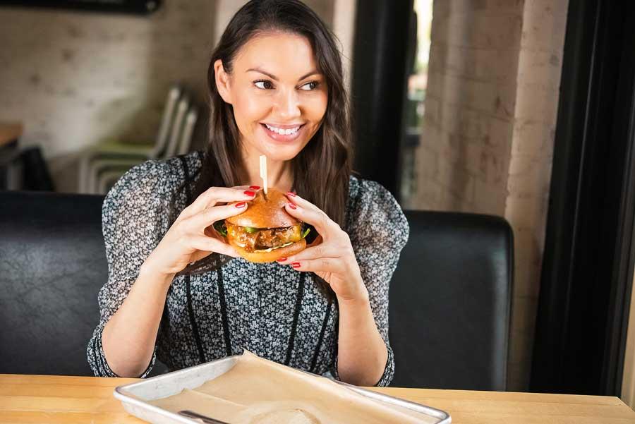 orange county food blogger Sondra Barker at Hopdoddy Burger Bar