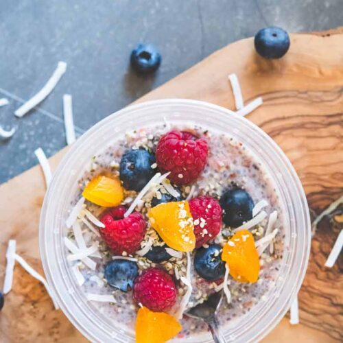 The Tastiest Aloha Overnight Chia Seed Breakfast Bowl