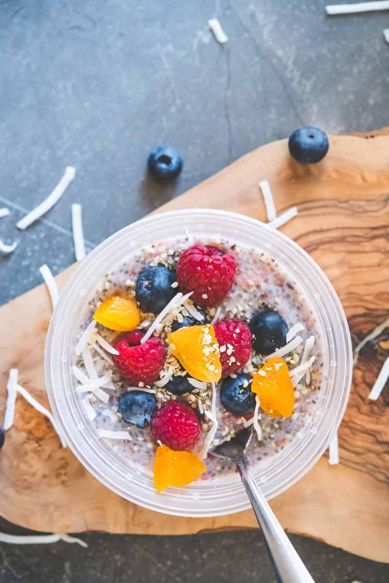 The Tastiest Aloha Overnight Chia Seed Breakfast Bowl