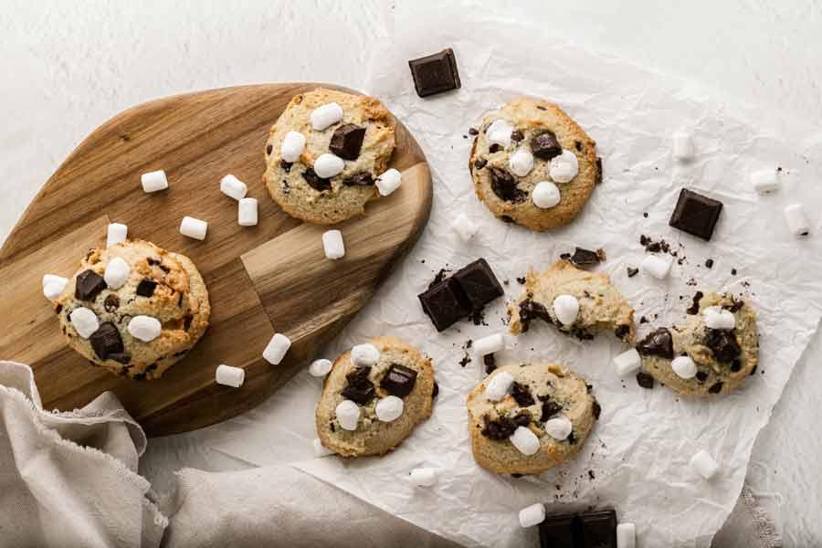 sugar-free-smores-cookies
