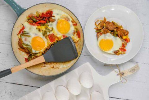 Breakfast-sausage-pepper-skillet