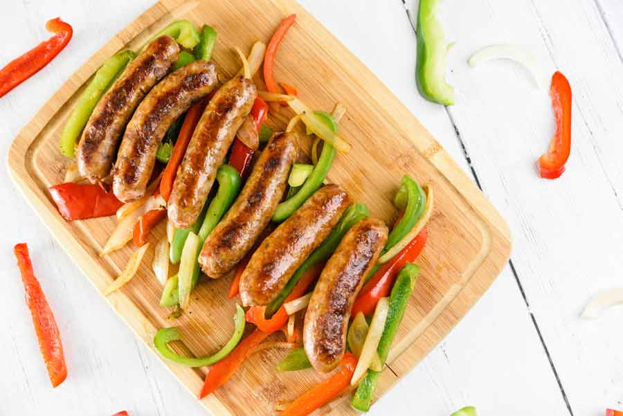 Sausage-and-Peppers-baked
