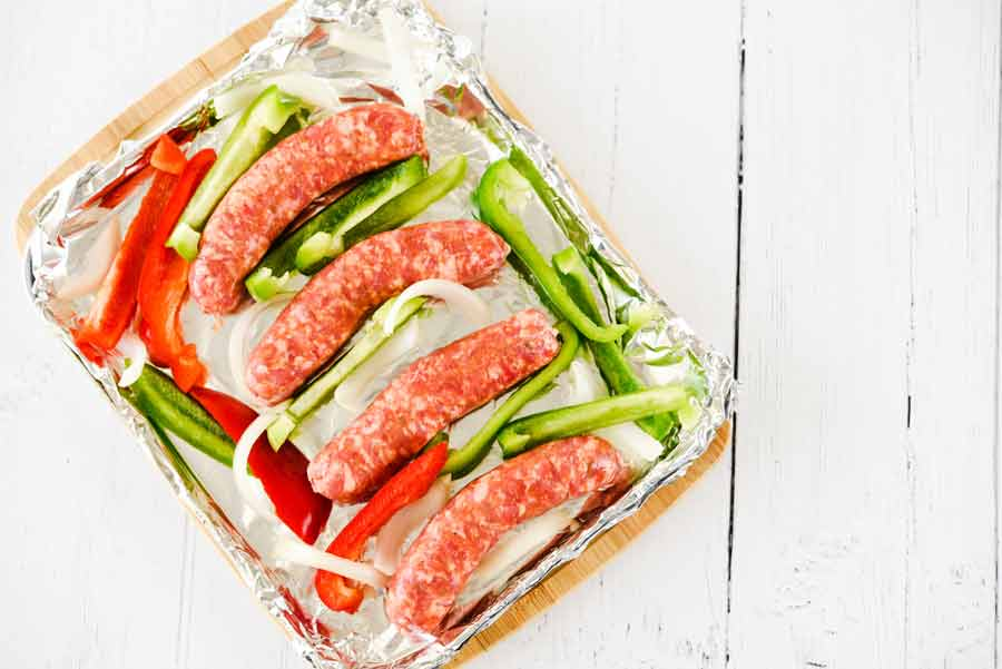 Sausage-Peppers-baked-in-oven