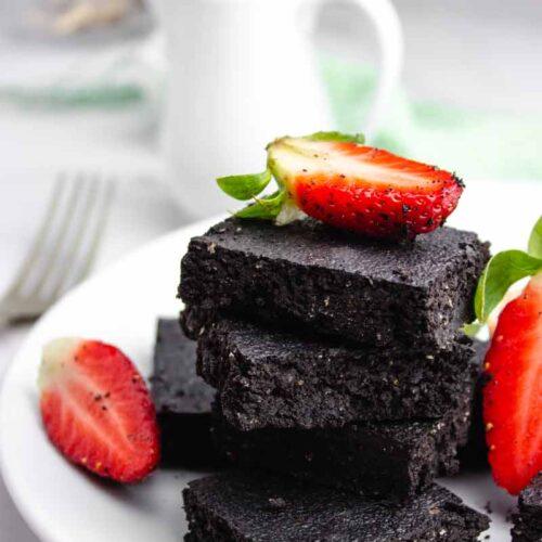 Dark Chocolate and Sea Salt Low Carb Brownies
