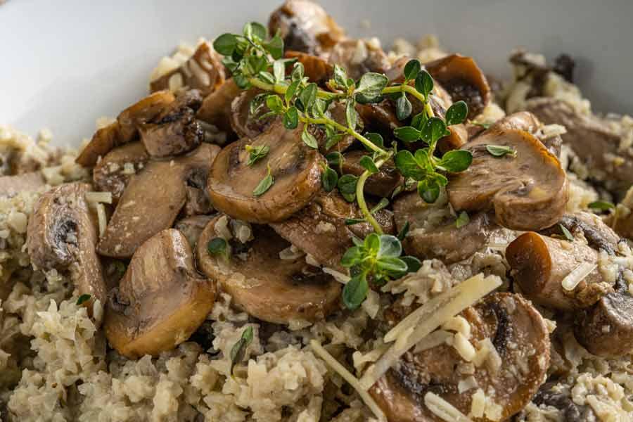 cauliflower-rice-mushroom-risotto