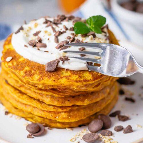 Deliciously Healthy Pumpkin Pancakes Gluten Free